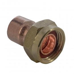 15mmx3/4In Straight Tap Connector Endfeed Loose MEF13150600