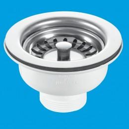 """Mcalpine 1.5"""" Basket Strainer Sink Waste Bwstss (No Overflow)"""