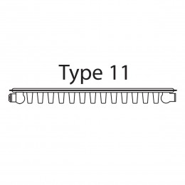 S718 Radiator Type 11 750X1800mm Single Panel/Convector 1936W/6604Btu Output