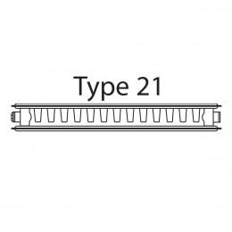 P407 Radiator Type 21 400X700mm Double Panel/Single Convector 722W/2463Btu