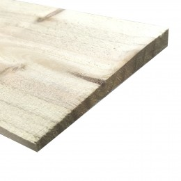 12x125mm 2.4M Feather Edge Fence Board Treated FSC
