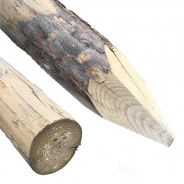 75-100mm Peeled & Pointed FSC(R) Redwood Kd Hc4 Treated & Branded Tree Stake 2.4Mt Long
