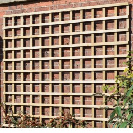 1.8Mx0.3M Square Trellis Panel (150mm Sqs) Hdt1G Treated Green