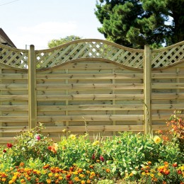 1800X1050 Beers Vanessa Treated Fence Panel FSC Green ST MELOIR