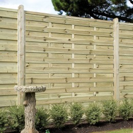 1800X1800 Beers St Esprit Treated Fence Panel FSC Green