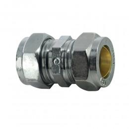 15mm Straight Coupler Chrome Comp     M10150000P