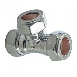 22mm Equal Tee Chrome Comp            m20220000P