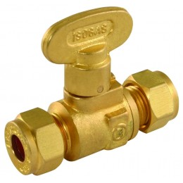 15mm Gas Iso Compression Fanned Valve Cock 57133