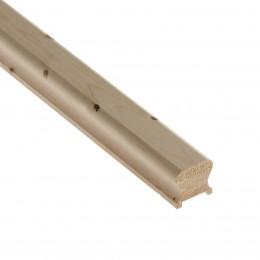 cm Hr2.441P Pine 2.4Mt 41mm Handrail PEFC