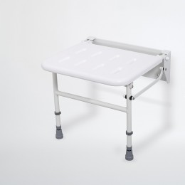 Nymas Wall Mounted Shower Seat White (C/W Legs)                            130202/Wh