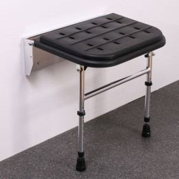 Nymas Procare Pcss1Pblk Black Padded Chrome Shower Seat With Legs                335002/Bl