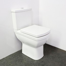 Nymas Square Design Close Coupled Comfort Height Ware Set With Seat & Lid White         329000/Wh