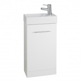 K-Vit Impakt Cube Cloakroom Unit 410mm & Basin (220 Depth) Rwfcube / Rwfcubebas