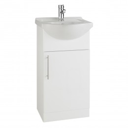 K-Vit Impakt 450mm Vanity Unit Inc Basin Single Door Rwf45Unit / Rwf45Basin