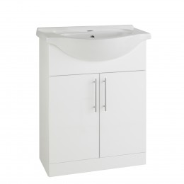K-Vit Impakt 650mm Vanity Unit Inc Basin 2 Door Rwf65Unit/Rwf65Basin