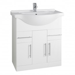 K-Vit Impakt 750mm Vanity Unit Inc Basin 3 Door/2 Drawer Rwf75Unit/Rwf75Basin