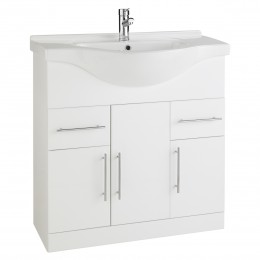 K-Vit Impakt 850mm Vanity Unit Inc Basin 3 Door/2 Drawer Rwf85Unit/Rwf85Basin