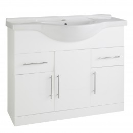 K-Vit Impakt 1050mm Vanity Unit Inc Basin 3 Door/2 Drawer Rwf105Unit/Rwf105Basin