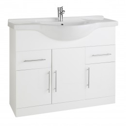 K-Vit Impakt 1200mm Vanity Unit Inc Basin 3 Door/2 Drawer Rwf120Unit/Rwf120Basin