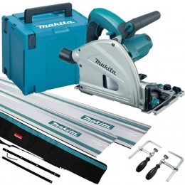 Makita *New* Plunge Saw Sp6000J1 240V Kit W/Case 2X 1.4 Rails  Connectors  Clamps  Bag For Rails