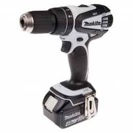 Makita 18V Lxt Combi Drill White DHP453RFW Incl. 3.0Ah Battery and Fast Charger in case