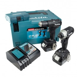 Makita 18V Brushless Kit Inc: Dhp483 Combi Drill Dtd155 Impact Driver  2X 5.0Ah Batts  Dlx2221Bt2