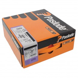 63mm Paslode Impulse Im350 Nails & 3 Fuel Cells P14 (3300/Box) Rg Galv Plus Finish        141210