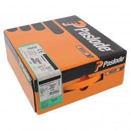 90mm Paslode Impulse Im350 Nails & 3 Fuel Cells P14 (2200/Box) St Br Finish               141233