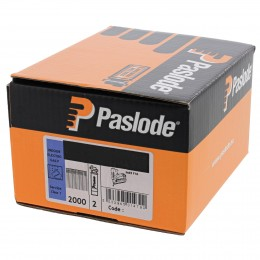 50mm Paslode Impulse Im65 Brads & 2 Fuel Cells P13 (2000/Box) Galv Finish                921591