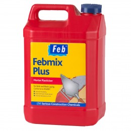 Febmix Plus Mortar Plasticiser 5Lt    Fbmixplus5