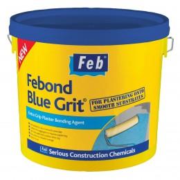 Febond Blue Grit  Plaster Bonding Agent 10 Litre FBBLUE10