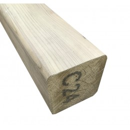 100X100 Standard Grade Treated Deck Post 2.4M C24 Graded FSC(R)