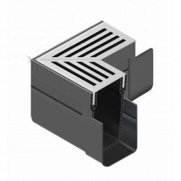 Aco Threshold Channel Drain Corner Unit Aluminium                                  19006