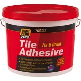 Everbuild 703 Fix and Grout Tile Adhesive Brilliant White 3.75 kg FIX02
