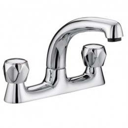 Bristan Club Deck Sink Mixer           Vacdsmcmt Low Reach Spout