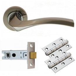 Cb Sines Lever On Rose Latch Pack Gk008Sncp/Intb