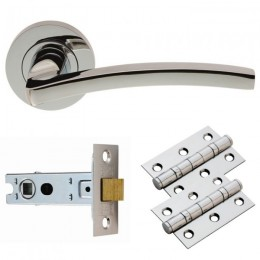 Cb Tavira Lever On Rose Latch Pack Gk009Cp/Intb