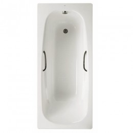 Roca Carla Twin Grip Plain Bath 1700X700mm   2Th INC Bolt on Legset & Grips Steel       Y000809