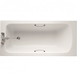 Ideal Standard Sandringham 21 1500x700mm Bath 2TH inc twin grips  tread pattern E028601