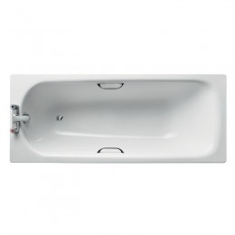 Ideal Standard Sandringham 21 1700x700mm Steel Bath 2TH inc twin grips  antislip S183501