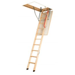Fakro Lwk Komfort 3 Section Timber Loft Ladder (55X111)