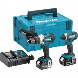 Makita 18V 2Pcs Combo Kit Dlx2145Tj / Lxt2145Tbj C/W 2X 5.0Ah Batteries & Charger