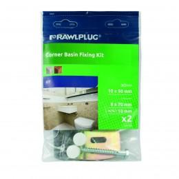 Rawlplug 10x50 Corner Basin fixing Kit RS1CBF