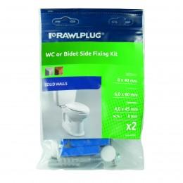 Rawlplug 8x40 WC/Bidet Fixing Kit RS1KPUBS