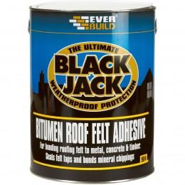 Everbuild Black Jack 904 Roof Felt Adhesive Black 1 Litre 90401