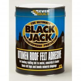 Everbuild Black Jack 904 Roof Felt Adhesive Black 5 Litre 90405