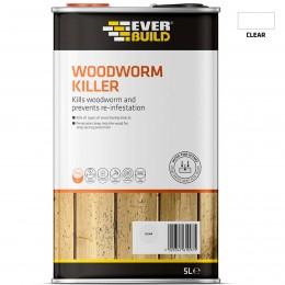 Everbuild Woodworm Killer Clear 5 Litre  LJWORM05