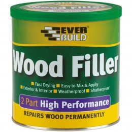 Everbuild 2 Part High Performance Wood Filler Medium Stainable 500 g 2PMED05
