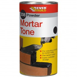 Everbuild 208 Powder Mortar Tone Black 1 kg PMTBK1