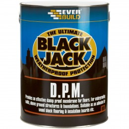 Everbuild Black Jack 908 D.P.M. Black 5 Litre 90805